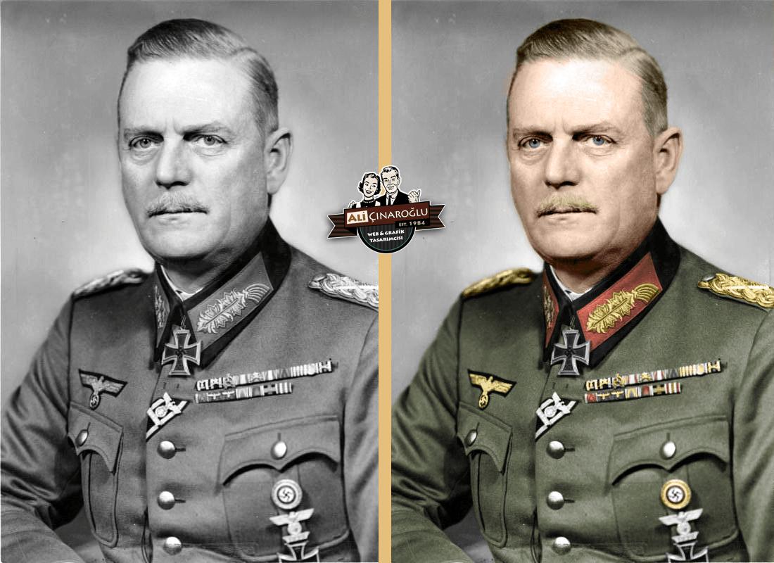 Renklendirme Çalışması – Generalfeldmarschall Wilhelm Keitel